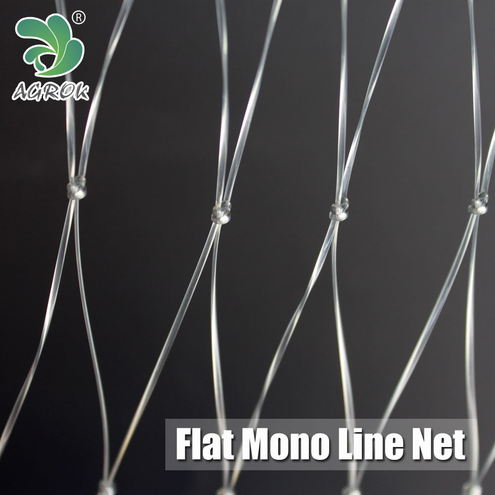 Flat Line Oblate Twine Compressed Yarn Monofilament Fishing Net
